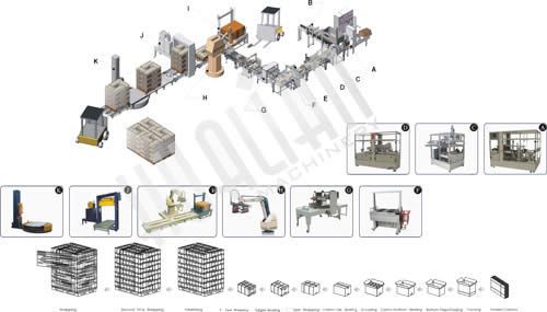 Automatic Carton Packaging System XZB
