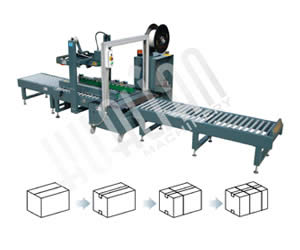 Low-table Automatic Carton Sealing & Strapping Packaging Line XFK-1D